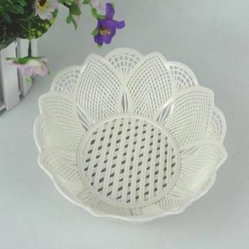 [協貿國際]   陶瓷編織果盤鏤空水果盤小號