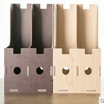 [協貿國際]   木質文件架桌面文件收納