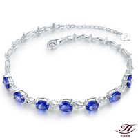 【禾美珠寶】5克拉天然藍寶石手鍊YS259(18K)