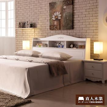 【日本直人木業】camla白色6尺雙人加大床組