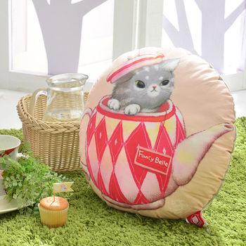 【愛戀1+1】義大利Fancy Belle X DreamfulCat《茶壺躲貓貓》、《飛吧!小木馬》數位造型抱枕