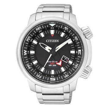 CITIZEN 星辰 Promaster 領先世界光動能運動腕錶/黑-48mm-BJ7081-51E