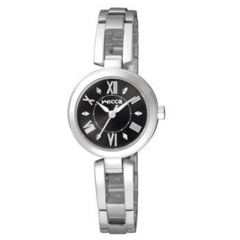 CITIZEN 星辰 Wicca 時尚氣質風格手鐲腕錶/黑/BG3-911-51