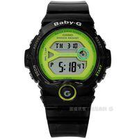 Baby-G CASIO / BG-6903-1B / 卡西歐熱愛運動果凍半透明兩地時間橡膠手錶 黑色 45mm