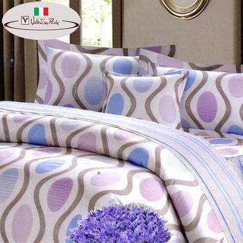 【Valentino Rudy】英倫風情純棉6件歐式床罩組-雙人