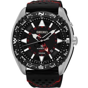 SEIKO Prospex GMT 菁英人動電能腕錶-黑/45mm 5M85-0AE0R/SUN049P2