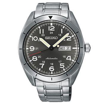 SEIKO 精工 CS系列 科技新貴時尚菁英機械錶/灰/43mm 4R36-04H0S/SRP709J1