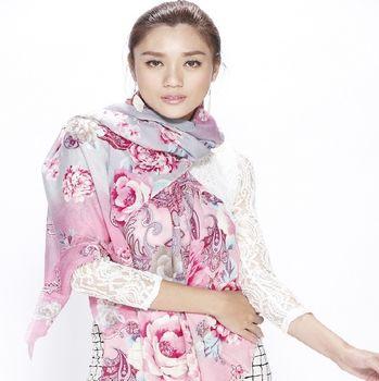iima時尚100%純羊毛百搭披肩組