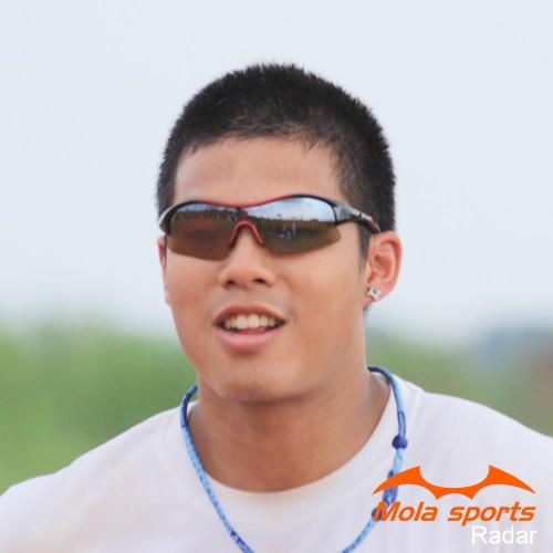 MOLA SPORTS 摩拉運動太陽眼鏡 radar_r 自行車/高爾夫/跑步 黑紅框色超時尚