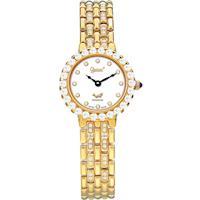 Ogival 瑞士愛其華-冷翡翠系列超薄鑽錶(華貴金)3811DLK