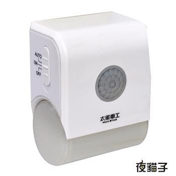 【太星電工】夜貓子LED壁插型感應燈 WD721