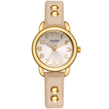 【JULIUS】搖滾甜心鉚釘錶帶腕錶(五色/28mm)