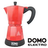 【比利時DOMO】經典電動摩卡壺(DM413KT)-紅