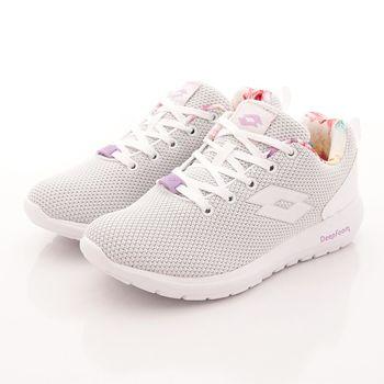 Lotto樂得-記憶泡綿跑鞋款-5079白(女段)