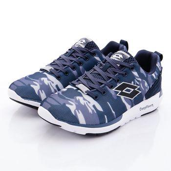 Lotto樂得-酷炫反光跑鞋款-5006迷彩藍(男段)