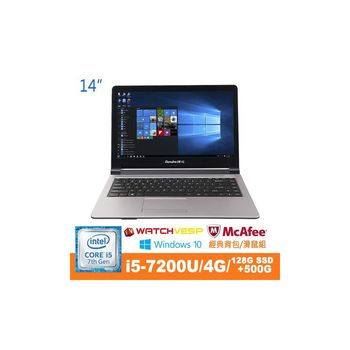 Genuine 捷元 Hanbody 14 7th i5-7200U雙核 14吋 Win10 筆記型電腦