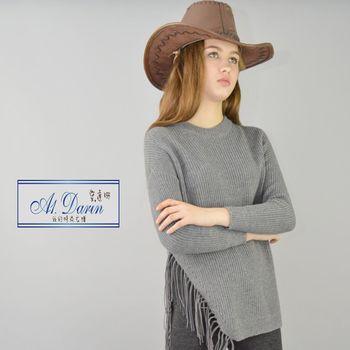 【A1 Darin】歐版側邊流蘇長版毛衣