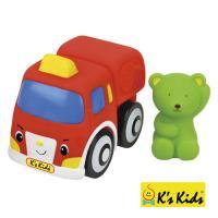 【Ks Kids 奇智奇思】彩色安全積木-山姆熊消防車 SB00288
