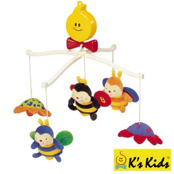 【Ks Kids 奇智奇思】蜜蜂布偶旋轉音樂鈴 SB00112