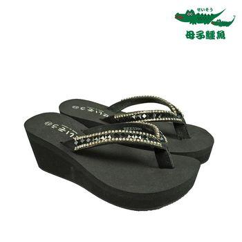 母子鱷魚台灣製晶鑽增高美姿鞋