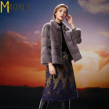 MONS丹麥珍稀整貂大衣絕版款(MFM612)
