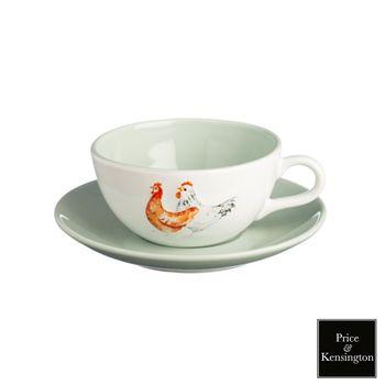 【PK】農場系列公雞咖啡杯250ML附盤