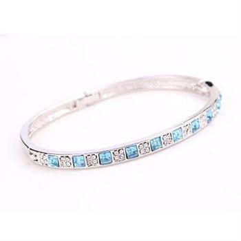 【米蘭精品】玫瑰金手環鑲鑽純銀手鍊奢華優雅日月星辰13色73ak41