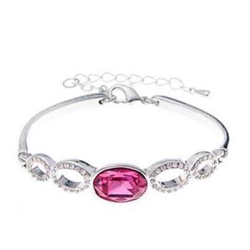 【米蘭精品】925純銀手環水晶手鍊簡約唯美氣質設計5色73ak95