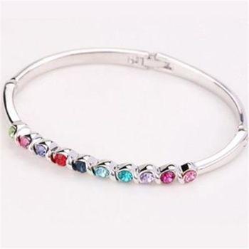 【米蘭精品】925純銀手環鑲鑽手鍊韓版優雅唯美風格6色73ak99