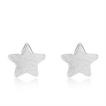 【米蘭精品】925純銀耳環耳針式耳飾氣質時尚獨特73al77