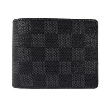 LV N63261 黑棋盤格紋多卡雙折短夾 (預購)