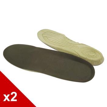 ○糊塗鞋匠○ 優質鞋材 C101 台灣製造 茶葉除臭鞋墊 (2雙/組)