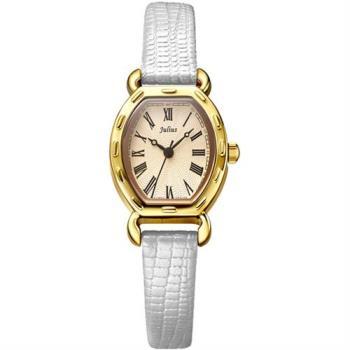 【JULIUS】羅馬刻度復古酒桶形腕錶(四色/20x24mm)