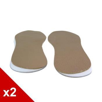 ○糊塗鞋匠○ 優質鞋材 C73 牛皮O型腿輔助墊 (2雙/組)