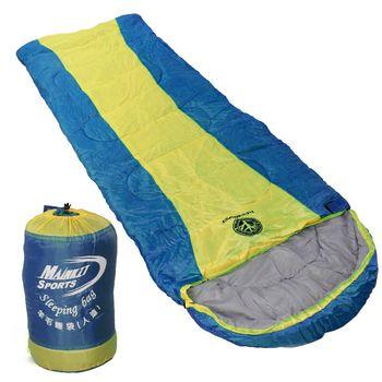 TreeWalker 人造羊毛睡袋 (黃藍色)
