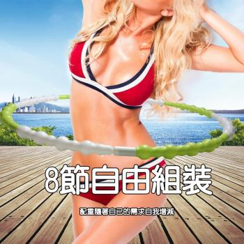 可調重量 組合式波浪型運動呼啦圈 多國專利 仿冒必究 金德恩 台灣製造