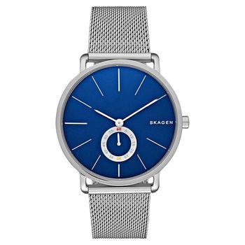 SKAGEN Hagen 小秒針腕錶-藍x銀/40mm SKW6230