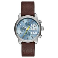 DIESEL Flare 美式狂潮計時腕錶-藍x咖啡/40mm DZ5464