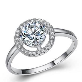 【米蘭精品】925純銀戒指鑲鑽銀飾簡單浪漫百搭73an17