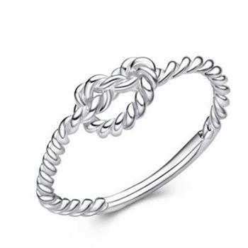 【米蘭精品】925純銀戒指銀飾編織愛情簡單愛純銀百搭73an69