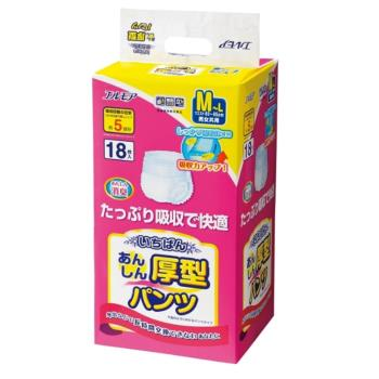 【日本一番】成人復健褲 M~L 18片*4包/箱