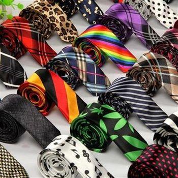 【米蘭精品】領帶手打領帶時尚花色箭頭型窄版42色69d9(任兩條)