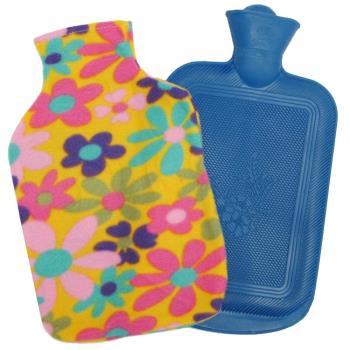 月陽時尚花紋特大號冰熱兩用保暖水袋熱水袋送絨布套(0018)