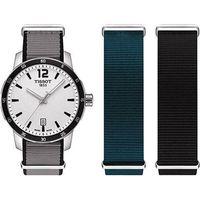 TISSOT 天梭 QUICKSTER 運動生活時尚帆布石英腕錶/40mm/T0954101703700