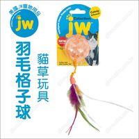 美國JW《羽毛格子球》貓草塞食玩具.薄荷香味.抗憂鬱