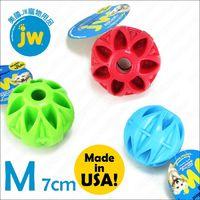 美國JW《藏食球M》抗憂鬱塞食益智玩具,耐咬有彈力,可丟撿互動