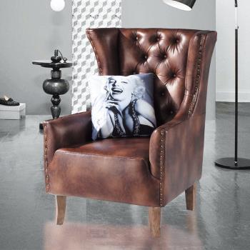 Bernice-蘿拉單人沙發休閒椅(附小抱枕)