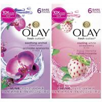 美國原裝進口OLAY美容香皂-蘭花沁香/草莓沁涼(113g*6/組)*4