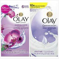 美國原裝進口OLAY美容香皂-蘭花沁香/日常10倍保濕(113g*6/組)*4