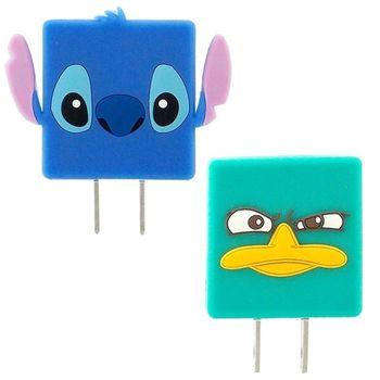 【Disney】 可愛造型充電轉接插頭 USB轉接頭-泰瑞/史迪奇